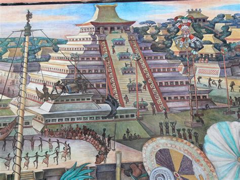 siege de mural file murales rivera indianer vor tenochtitlan pyramide jpg