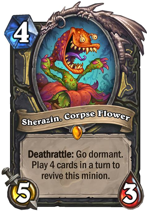 hearthstone deathrattle deck rogue sherazin corpse flower hearthstone card
