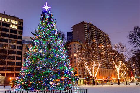christmas tree lightings  holiday   boston