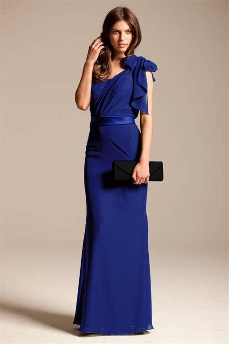 royal blue bridesmaid dresses  sleeves
