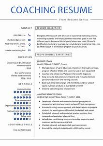 Sample Coach Cover Letter Coaching Resume Sample Writing Tips Resume Genius