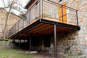 terrasse sur pilotis prix moyen au m2 d39une terrasse With construction terrasse bois sur pilotis
