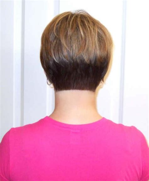 A Line Graduated Bob Hairstyles Back View