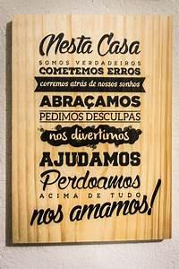 Quadro Transfer Madeira 30 X 40 Frase Mensagem Casa