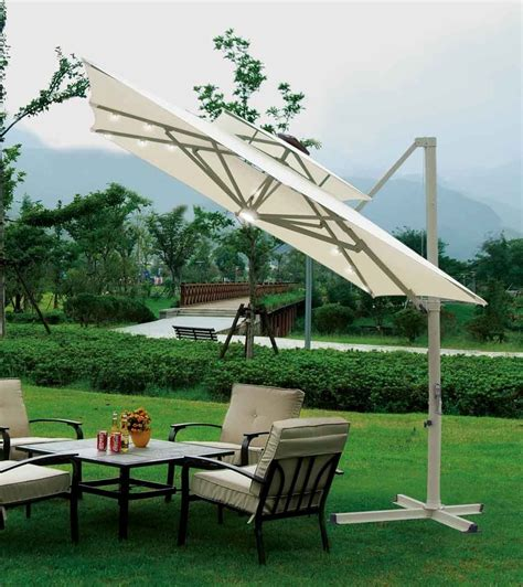 southern patio 10 x10 square aluminum offset umbrella