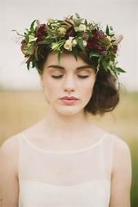 Wedding Hairstyles Floral Hair Crowns 1997969 Weddbook
