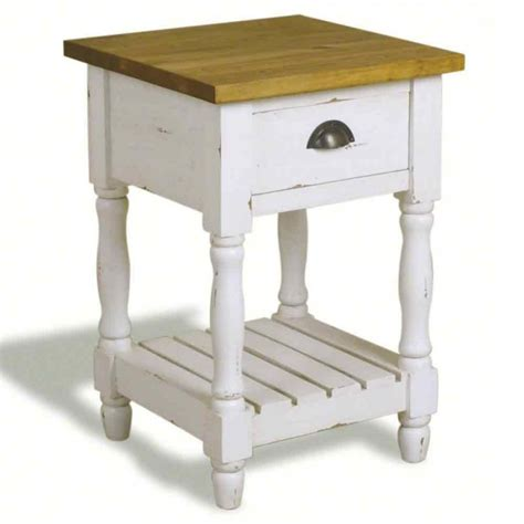 farmhouse style end tables farmhouse country style 1 drawer side table