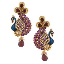 25 peacock inspired beautiful earrings designs for gorgeous