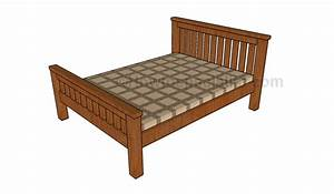 Full Size Platform Bed Plans ~ Attractive design