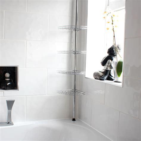 metal corner showerbathroom tidy basket caddyshelf