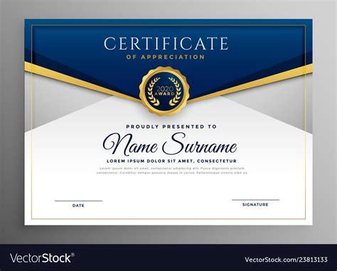 Elegant Certificate Templates Free - Professional Template ...