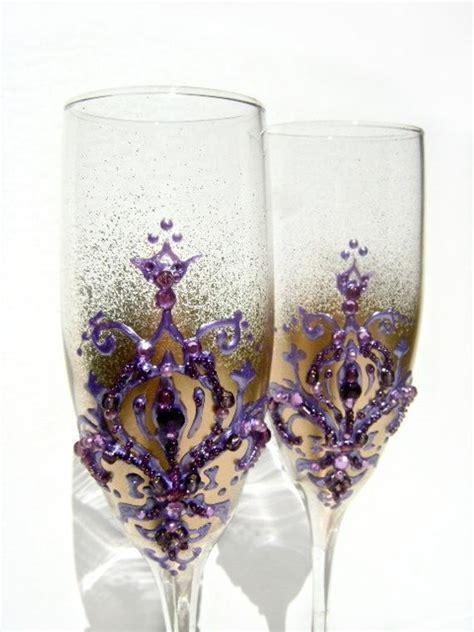 items similar  wedding champagne glasses   fleur de