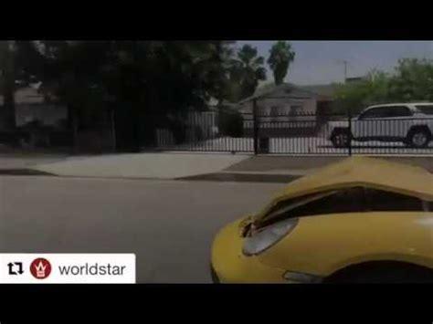 yellow porsche lil pump lil pump crashes porsche car image ideas