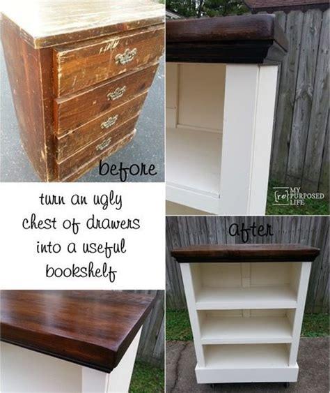 chest  drawers bookshelf  repurposed life rescue