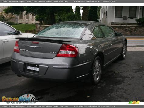 2003 Chrysler Sebring Lxi Coupe by 2003 Chrysler Sebring Lxi Coupe Titanium Metallic