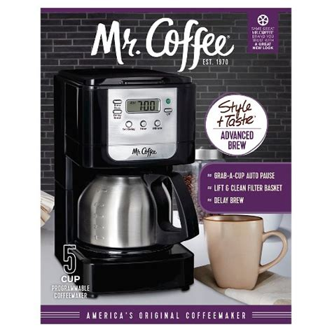 All products from mr coffee 12 cup programmable coffee maker. Mr. Coffee JWX9 5 Cup Programmable Coffee Maker With Stainless Carafe | BrandsMart USA