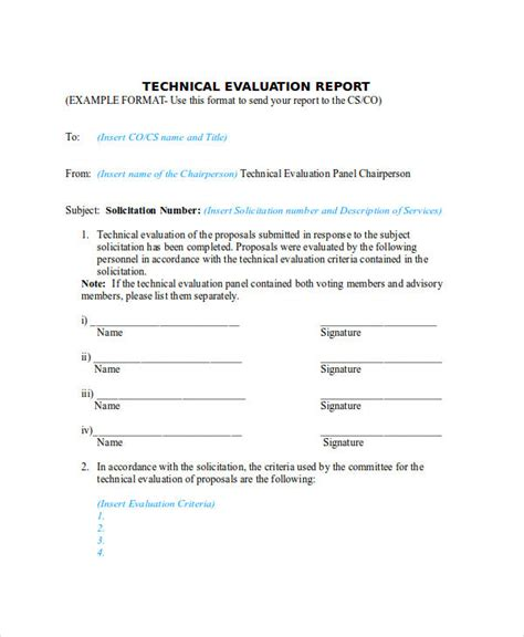 Technical Report Template by 6 Technical Report Exles Sles