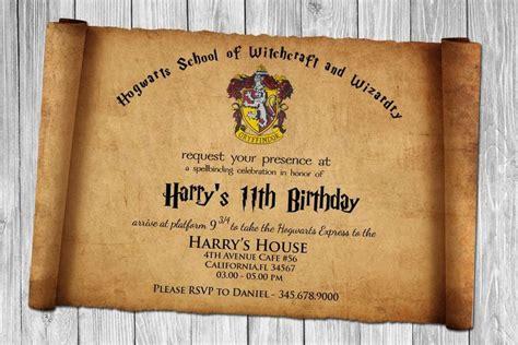 harry potter einladungskarten zum ausdrucken kindergebu