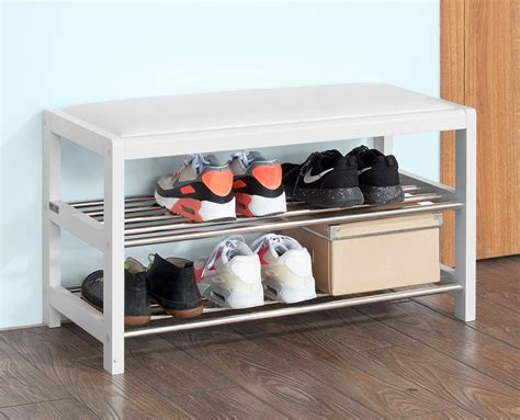 white shoe rack sobuy 174 white shoe rack bench with removable pu leather