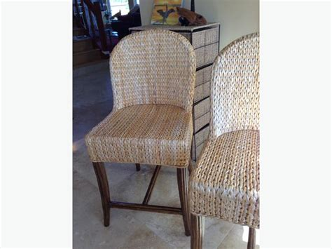 2 banana leaf rattan chairs counter height courtenay