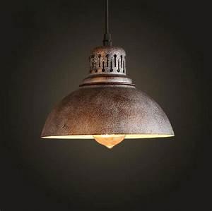 Ac v retro industrial rusty edison bulb hanging lamp