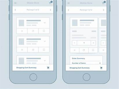 Mobile Ux Shopping Cart Wireframe Ui Examples