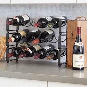 Stackable, Countertop, Wine, Rack