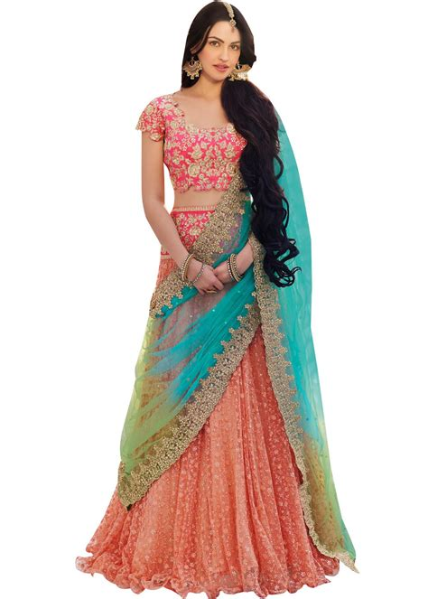 plus size floral dresses frilled edge lehenga choli most loved styles