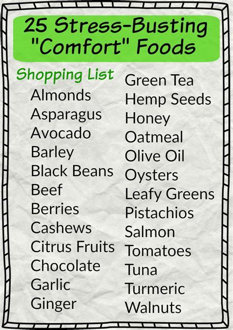 comfort food list less stress more sleep 25 cortisol busting foods in