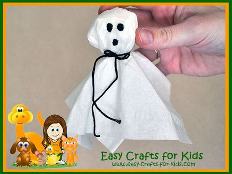 preschool crafts kleenex turned into achoo ghosts 608 | preschool halloween crafts