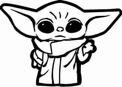Yoda Outline Decal Vinyl Sticker Wars Drawing
