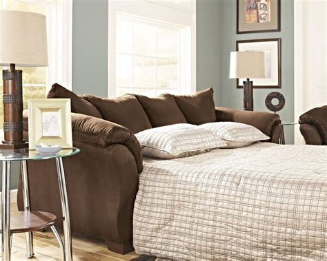 ashley furniture sofa bed ashley furniture darcy cafe full sofa sleeper bed sofa