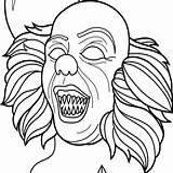 Coloring Pennywise Clown Horror Scary Transparent Printable Adult Rex Pikachu Sheets Beb Okemon Gyarados Tiranosaurio Dinosaurios Colorear Dibujo Toppng Prints sketch template