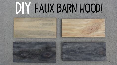 How To Make Barn Wood by Diy Faux Barn Wood Paint Trick