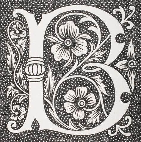 decorative letter b decorative capital letter b drawing by vintage design pics 15692
