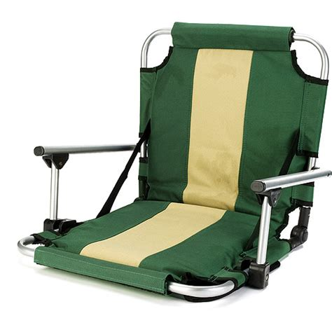 Stadium Chairs With Backs Walmart by Stansport Folding Stadium Seat With Arms Green Walmart