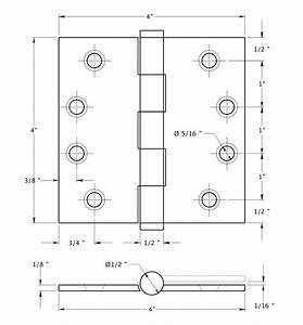 Door Hinge 4 x 4 Square, Pineapple- Pine Cone Tips,- Steel ...