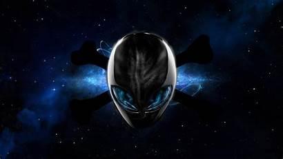 Alienware Space Universe Skull Aliens Bones Nebula