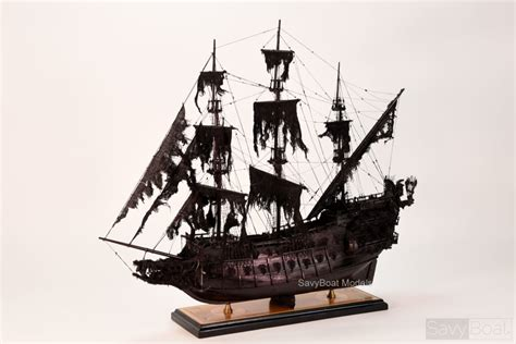 flying dutchman pirate ship handcrafted wooden model