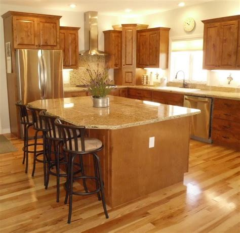 large kitchen islands with seating new construction knotty alder cabinets with medium brown 8896