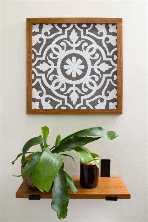 moroccan pattern faux tile cricut maker stencil easy diy