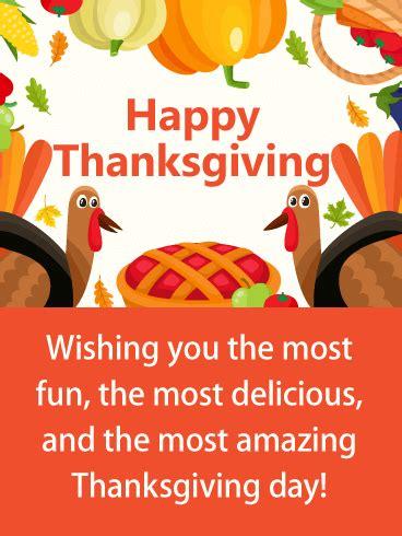 colorful fun thanksgiving card birthday greeting