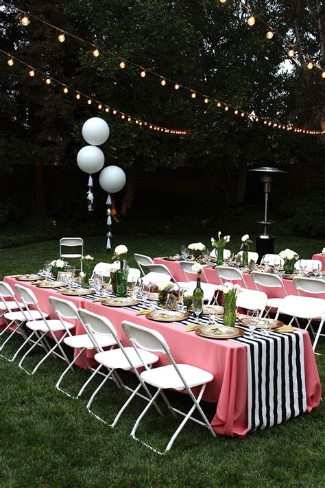 Pretty outdoor party Outdoor bridal showers Bridal