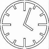 Wecoloringpage Coloring Clock sketch template