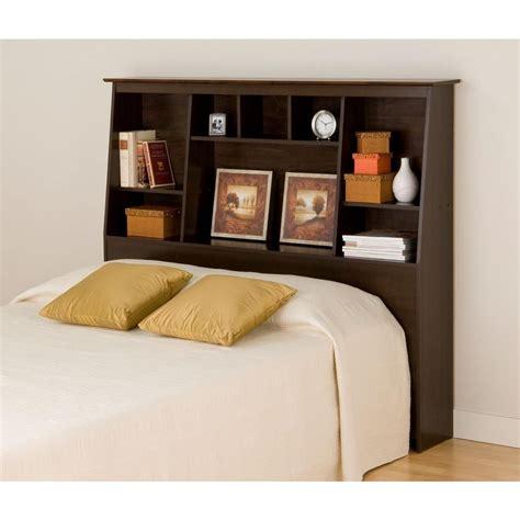 queen size bookcase prepac espresso full queen tall slant back bookcase