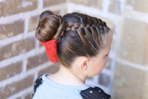 sock buns cute girls hairstyles