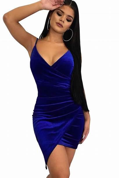 Mini Velvet Ruched Neck Wrapped Dresses Zekela