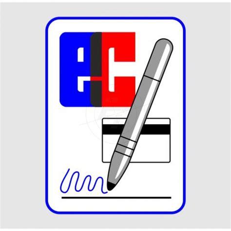 aufkleber ec kartenzahlung mit unterschrift