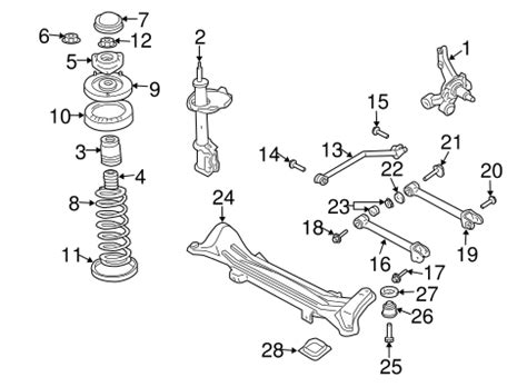 2003 Suzuki Aerio Parts by Rear Suspension For 2003 Suzuki Aerio World Oem Parts Subaru