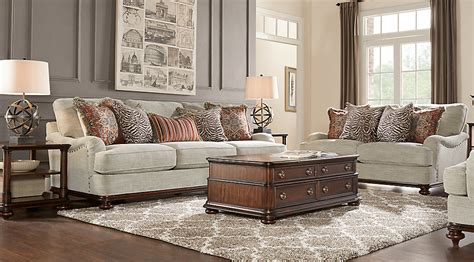 Cindy Crawford Home Bali Breeze Taupe 8 Pc Living Room